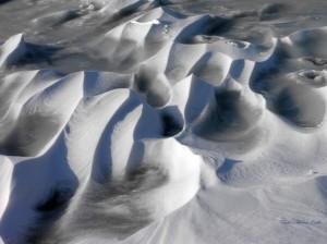 Hó és szél munkája a Balatonon