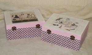Csajos rózsaszín doboz
