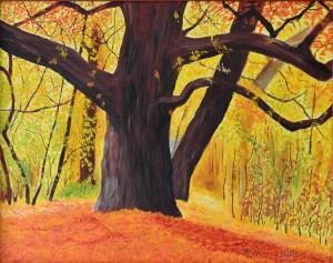 Őszi erdő, 40x60, olja